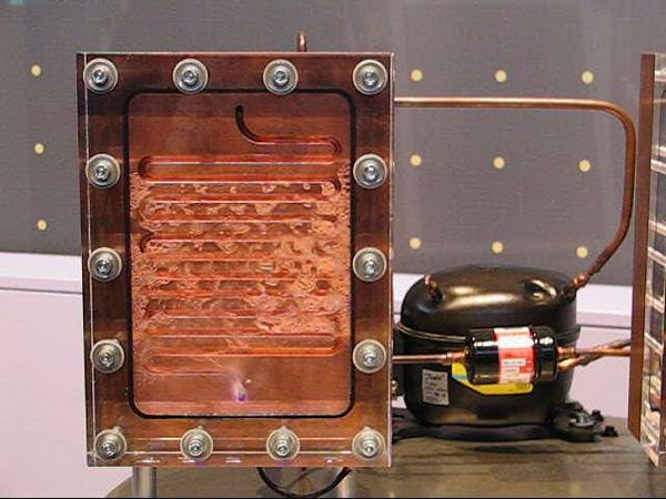 Spaccato funzionante di un evaporatore